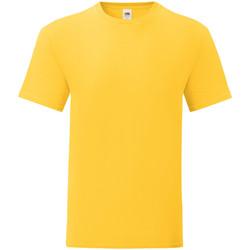 vaatteet Miehet Lyhythihainen t-paita Fruit Of The Loom 61430 Sunflower Yellow
