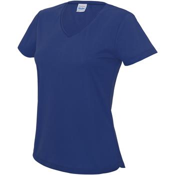 vaatteet Naiset Lyhythihainen t-paita Awdis JC006 Royal Blue