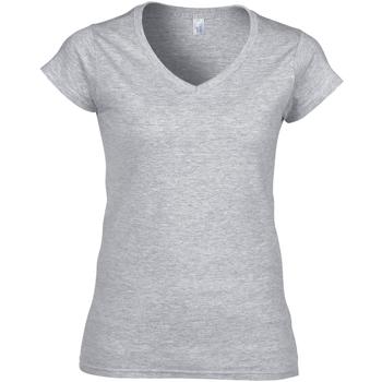 vaatteet Naiset Lyhythihainen t-paita Gildan Soft Style Sport Grey (RS)