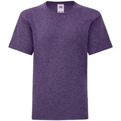 vaatteet Lapset Lyhythihainen t-paita Fruit Of The Loom 61023 Heather Purple