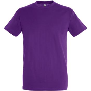 vaatteet Miehet Lyhythihainen t-paita Sols 11380 Light Purple