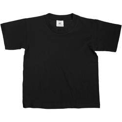 vaatteet Lapset Lyhythihainen t-paita B And C TK300 Black