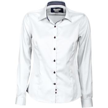 vaatteet Naiset Paitapusero / Kauluspaita J Harvest & Frost JF006 White/ Navy