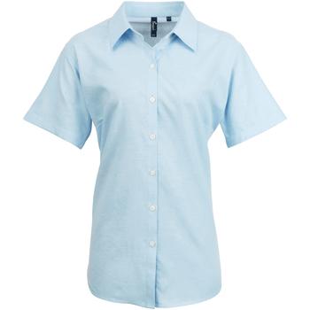 vaatteet Naiset Paitapusero / Kauluspaita Premier PR336 Light Blue
