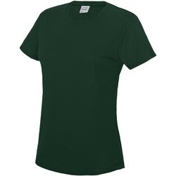 vaatteet Naiset Lyhythihainen t-paita Awdis JC005 Bottle Green