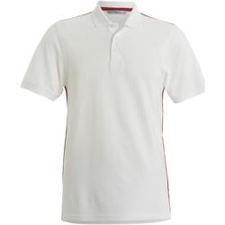 vaatteet Miehet Lyhythihainen poolopaita Kustom Kit KK603 White/ Red