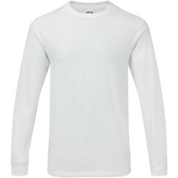 vaatteet Miehet T-paidat pitkillä hihoilla Gildan H400 White