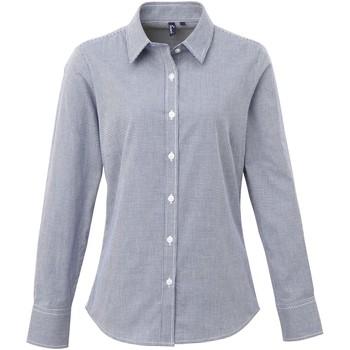 vaatteet Naiset Paitapusero / Kauluspaita Premier PR320 Navy/White