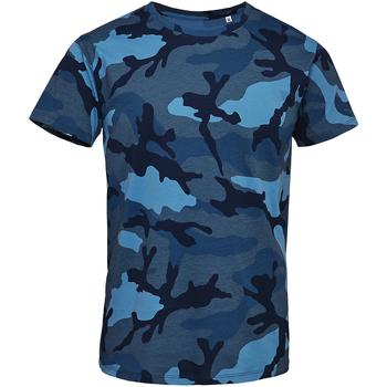 vaatteet Miehet Lyhythihainen t-paita Sols 01188 Blue Camo