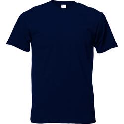 vaatteet Miehet Lyhythihainen t-paita Universal Textiles 61082 Midnight Blue