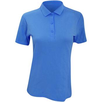 vaatteet Naiset Lyhythihainen poolopaita Anvil 6280L Pool Blue