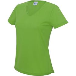 vaatteet Naiset Lyhythihainen t-paita Awdis JC006 Lime Green