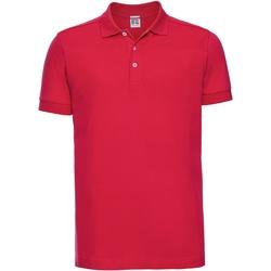 vaatteet Miehet Lyhythihainen poolopaita Russell 566M Classic Red