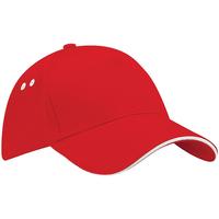 Asusteet / tarvikkeet Lippalakit Beechfield B15C Classic Red/White