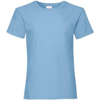 vaatteet Tytöt Lyhythihainen t-paita Fruit Of The Loom 61005 Sky Blue