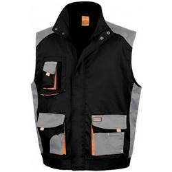 vaatteet Miehet Neuleet / Villatakit Result RS317 Black/Grey
