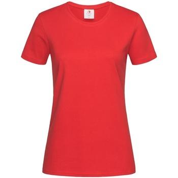 vaatteet Naiset Lyhythihainen t-paita Stedman Comfort Scarlet Red