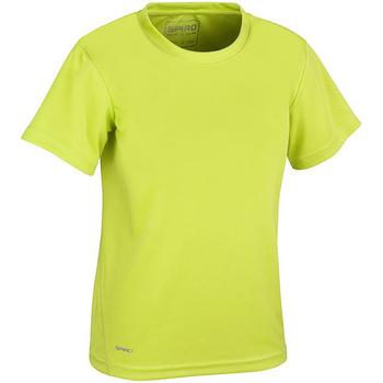 vaatteet Pojat Lyhythihainen t-paita Spiro S253J Lime Green