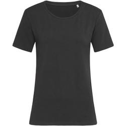 vaatteet Naiset Lyhythihainen t-paita Stedman  Black Opal