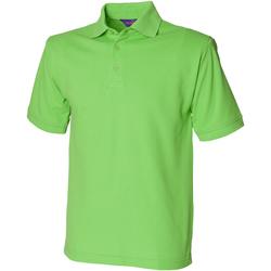 vaatteet Miehet Lyhythihainen poolopaita Henbury HB400 Bright Lime
