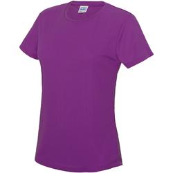 vaatteet Naiset Lyhythihainen t-paita Awdis JC005 Magenta Magic