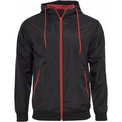 vaatteet Miehet Pusakka Build Your Brand Wind Runner Black/Red