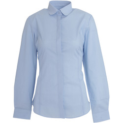 vaatteet Naiset Paitapusero / Kauluspaita Brook Taverner Trevi Sky Blue