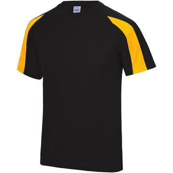 vaatteet Miehet Lyhythihainen t-paita Just Cool JC003 Jet Black/ Gold