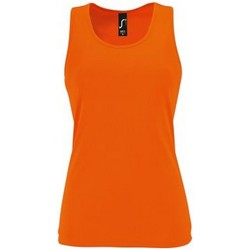 vaatteet Naiset Hihattomat paidat / Hihattomat t-paidat Sols 2117 Neon Orange