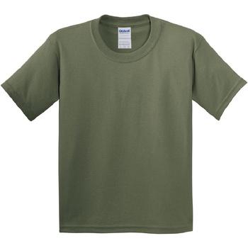 vaatteet Lapset Lyhythihainen t-paita Gildan 5000B Military Green