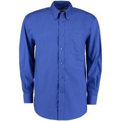 vaatteet Miehet Pitkähihainen paitapusero Kustom Kit KK105 Royal Blue