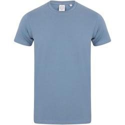 vaatteet Miehet Lyhythihainen t-paita Skinni Fit SF121 Stone Blue