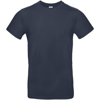 vaatteet Miehet Lyhythihainen t-paita B And C TU03T Navy Blue