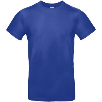 vaatteet Miehet Lyhythihainen t-paita B And C TU03T Cobalt Blue