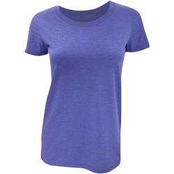 vaatteet Naiset Lyhythihainen t-paita Bella + Canvas BE8413 Blue Triblend