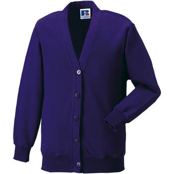 vaatteet Lapset Neuleet / Villatakit Jerzees Schoolgear 273B Purple