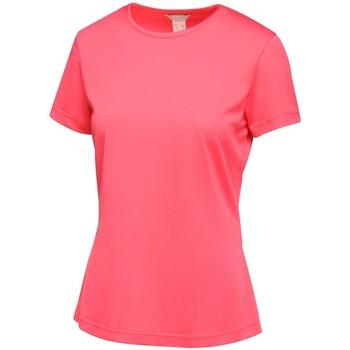 vaatteet Naiset Lyhythihainen t-paita Regatta TRS188 Hot Pink