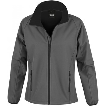 vaatteet Naiset Ulkoilutakki Result R231F Charcoal / Black