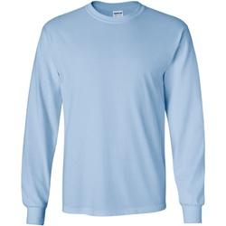 vaatteet Miehet T-paidat pitkillä hihoilla Gildan 2400 Light Blue