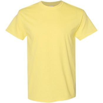 vaatteet Miehet Lyhythihainen t-paita Gildan Heavy Cornsilk