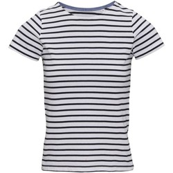 vaatteet Naiset Lyhythihainen t-paita Asquith & Fox AQ073 White/Navy