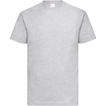vaatteet Miehet Lyhythihainen t-paita Universal Textiles 61036 Grey Marl
