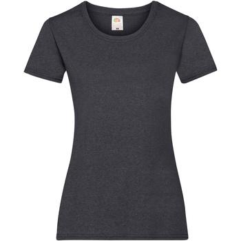 vaatteet Naiset Lyhythihainen t-paita Fruit Of The Loom 61372 Dark Heather