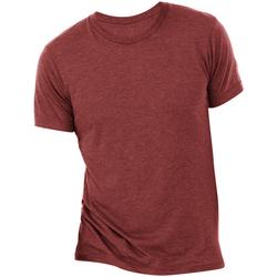 vaatteet Miehet Lyhythihainen t-paita Bella + Canvas CA3413 Cardinal Triblend