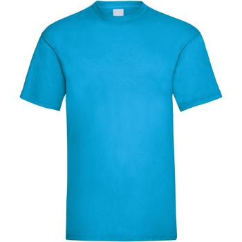 vaatteet Miehet Lyhythihainen t-paita Universal Textiles 61036 Cyan