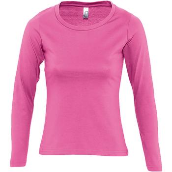vaatteet Naiset T-paidat pitkillä hihoilla Sols Majestic Orchid Pink
