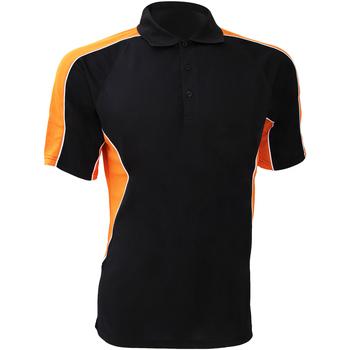 vaatteet Miehet Lyhythihainen poolopaita Gamegear KK938 Black/Orange