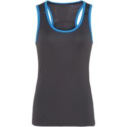 vaatteet Naiset Hihattomat paidat / Hihattomat t-paidat Tridri TR023 Charcoal / Sapphire