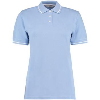 vaatteet Naiset Lyhythihainen poolopaita Kustom Kit Mellion Light Blue/White