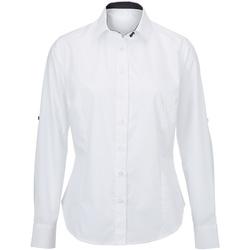 vaatteet Naiset Paitapusero / Kauluspaita Alexandra AX060 White/ Black